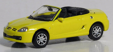 Ricko 38490 HO Yellow European Automobile - 2007 MG TF Roadster