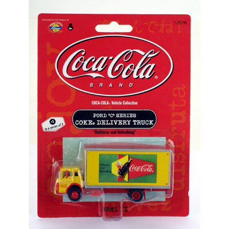 "Athearn 8208 1:87 HO Scale Ford C Series Van Coke ""Delicious & Refreshing"""