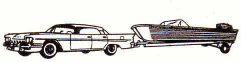 EKO 2054 HO Desoto Con Remolque Canoa Car and Trailer Plastic