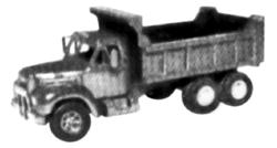 Alloy Forms 3034 1:87 HO  Mack B-61 Triple Axle Dump Truck Kit