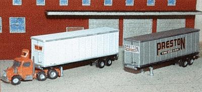 N Architect 30013 Z 40' Trailer Container with Decals