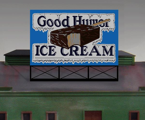 Miller Engineering 441502 HO/N Good Humor Animated Neon Billboard Small