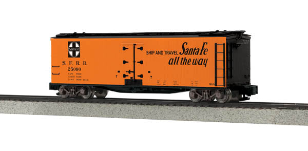MTH 35-78013 S Scale Santa Fe 40' Woodsided Reefer Car