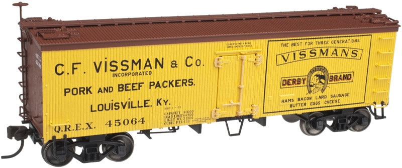 Atlas 20002702 HO C.F. Vissman & Co   36' Wood Reefer W/ Truss Rods # 45064