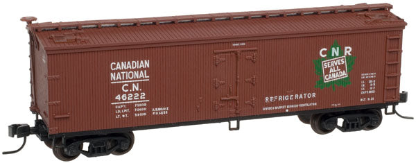Atlas 20002715 HO Scale Canadian National  40' Wood Reefer  #46222