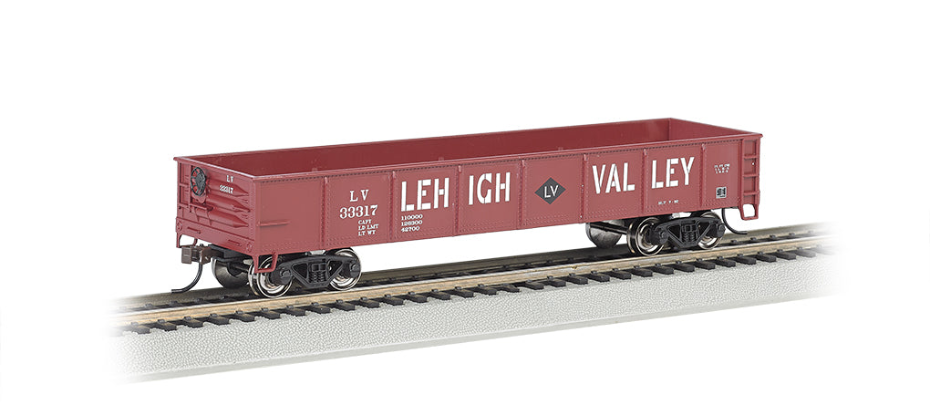 Bachmann 17227 HO Lehigh Valley 40' Gondola (Red)