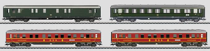 Marklin 43204 HO German Federal Railroad DB NightTrain 4-Car Set
