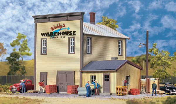 Walthers 933-3654 HO Wally's Warehouse - Main Building Kit