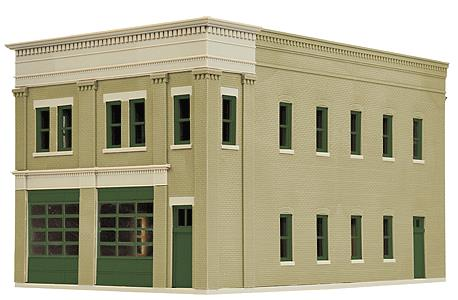 Walthers 933-4022 HO Two-Bay Fire Station Kit