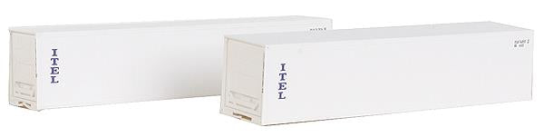 Deluxe Innovations 4101 N Scale ITEL 40' Reefer Container 2-Pack