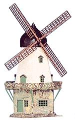 Heljan 201 HO Scale Old Windmill Kit