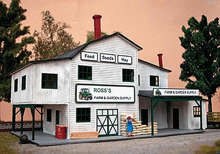 Northeastern Scale Models 30018 N Scale Farm & Garden Supply - Kit