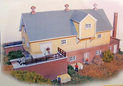 The N Scale Architect 10010 N Hanaford Mills Kit