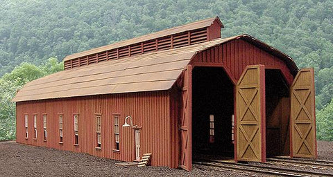 B.T.S. 27446 HO McCabe Lumber Rail Facility Series Kit Two-Stall Engine House