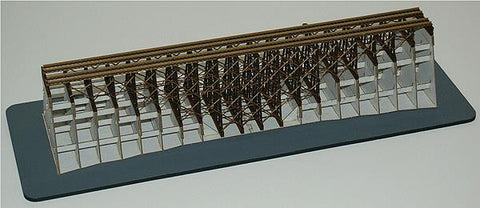 Double-Track Wood Trestle w/Support Structure - Kit (Laser-Cut Wood & Card)