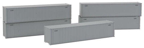 40' Corrugated Container w/Dual Logo Panel 5-Pack