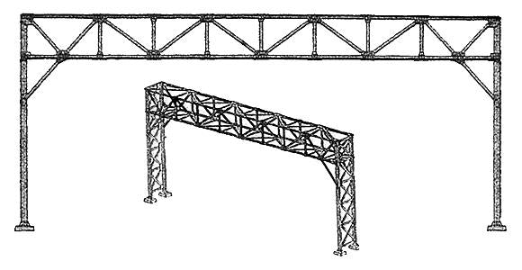 NJ International # 4007 HO  Standard Signal Bridge - Kit