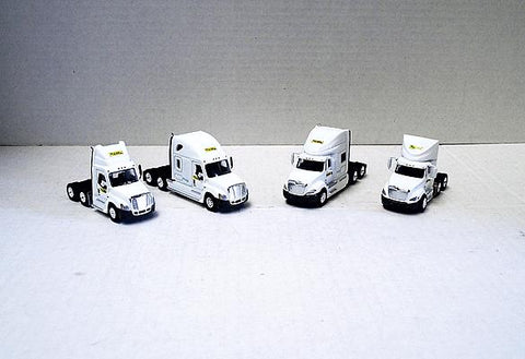 Trucks N' Stuff 734-SP110118 HO Truck Semi Tractor Super  4-Pack - Assembled
