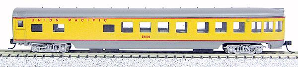 Con-Cor 40175 N Union Pacific 85' Smooth-Side Observation Car with Micro-Trains® Couplers
