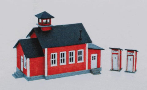 Northeastern Scale Models 30034 One-Room Schoolhouse w/2 Privies