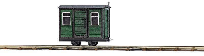 Busch 12231 Wood Maintenance-of-Way Crew Car - Ready to Run - Feldbahn