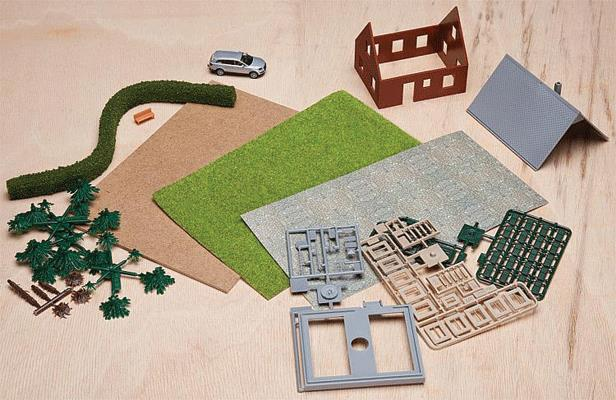 Faller 272-195999 HO Scale Creative Building Kit #2