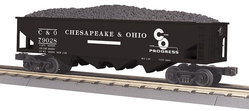 4-Bay Offset Hopper w/Load - 3-Rail - Ready to Run - RailKing(R)
