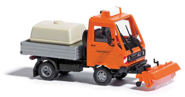 Busch 42216 1991 Multicar Light Pickup Truck w/Sweeper - Assembled