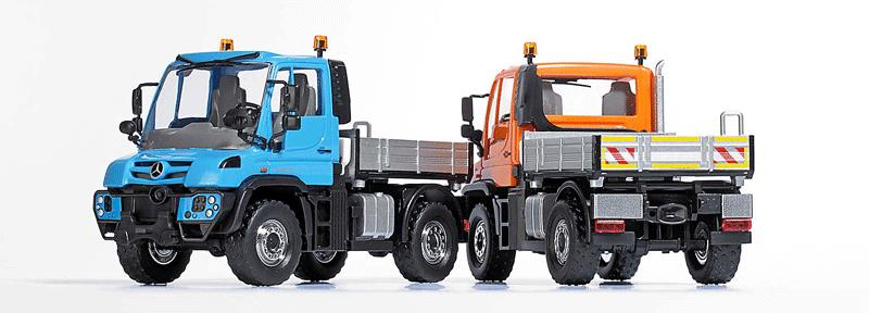 Busch 50901 2013 Mercedes-Benz Unimog U 430 Heavy-Duty Pickup Truck - Assembled