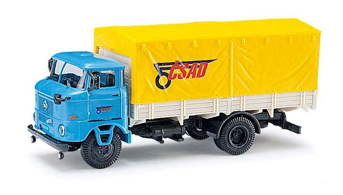 Busch 95120 1965 W50L Sp Low-Sided Delivery Truck w/Canvas Cover - Assembled