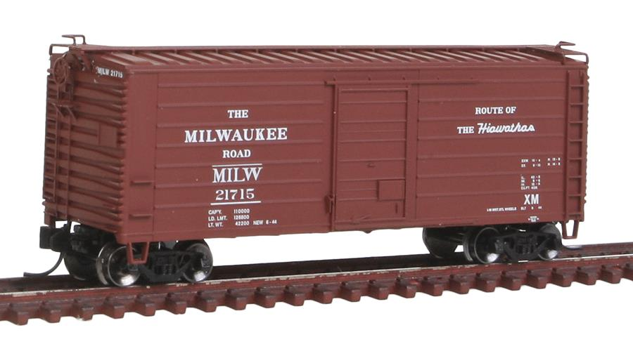 Fox Valley Models 90223 N Milwaukee Short-Rib 40' Rib-Side Boxcar - Ready to Run #21715