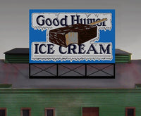 Miller Engineering 881501 HO/O Good Humor Animated Neon Billboard Large