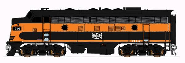 InterMountain 49031 EMD F7A - Standard DC