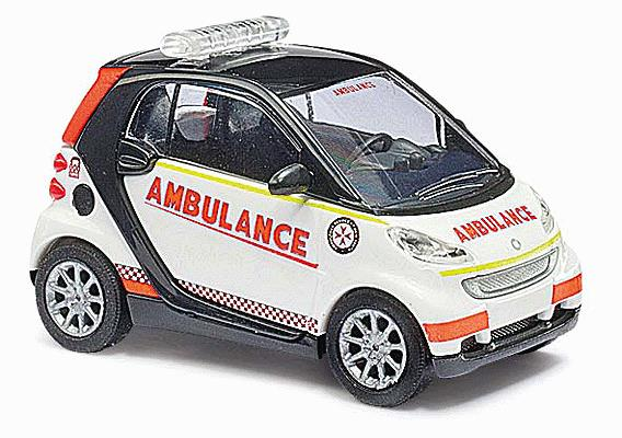 Busch 46162 2007 Smart Fortwo City Coupe - Assembled
