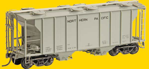 Kadee 8041 HO Northern Pacific PS-2 2-Bay Covered Hopper #75447