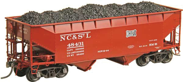 Kadee 7055 HO Nashville,Chattanooga & St. Louis 50-Ton 2-Bay Open Hopper  #48431