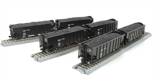 Broadway Limited 1790 HO Illinois Central Class H2a 3-Bay Hopper (6)