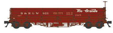 Blackstone Models 340563 HOn3 D&RGW 800 Series Drop Bottom Gondola