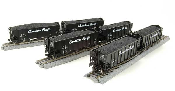 Broadway Limited 3124 N Canadian Pacific N&W Class H2A 3-Bay Hopper (6)
