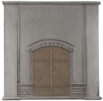 "Noch 58086 HO Concrete Retaining Wall with Wood Doors - 4-15/16 x 4-15/16"" 12.5 x 12.5cm"