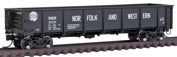 Trainworx Inc 262712 N&W 40' General Service GS Drop-Bottom Gondola - Ready to Run