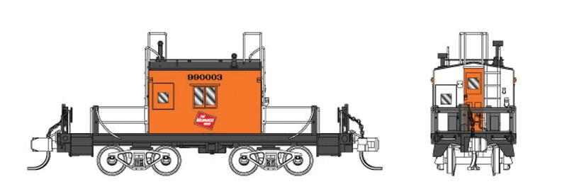 Fox Valley Models 91155 Milwaukee Road Transfer Caboose - Ready to Run #1