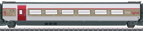 Marklin 43422 HO TGV Lyria R2/R3 Intermediate Passenger Car Add-On Set #1