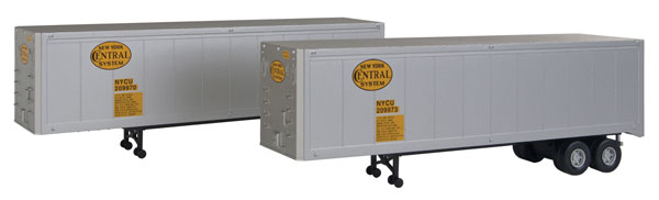 Walthers 949-2309 HO New York Central 40' Trailer 2-Pack - Assembled