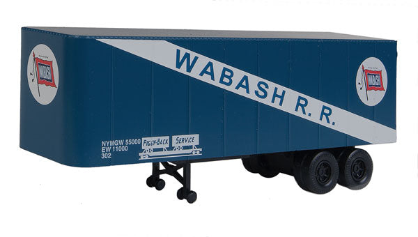 Walthers 949-2366 HO Wabash 32' Trailer 2-Pack - Assembled
