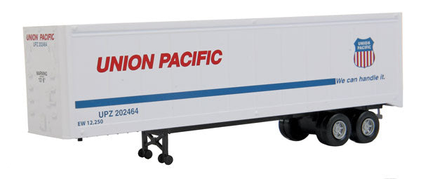Walthers 949-2313 HO Union Pacific 40' Trailer 2-Pack - Assembled