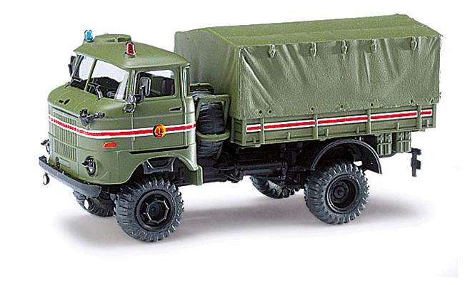 Busch 95216 1969 IFA W50LA/A Low-Side Truck w/Canvas Cover - Assembled - Espewe