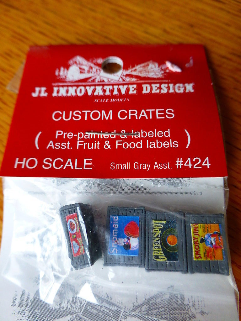 JL Innovative Design 424 HO Assorted Small Custom Crates Fruit and Food Series