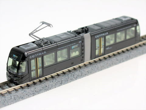 Kato 14-8023 Kato 14-802-3 Black Centram Articulated Light Rail Set # 9003