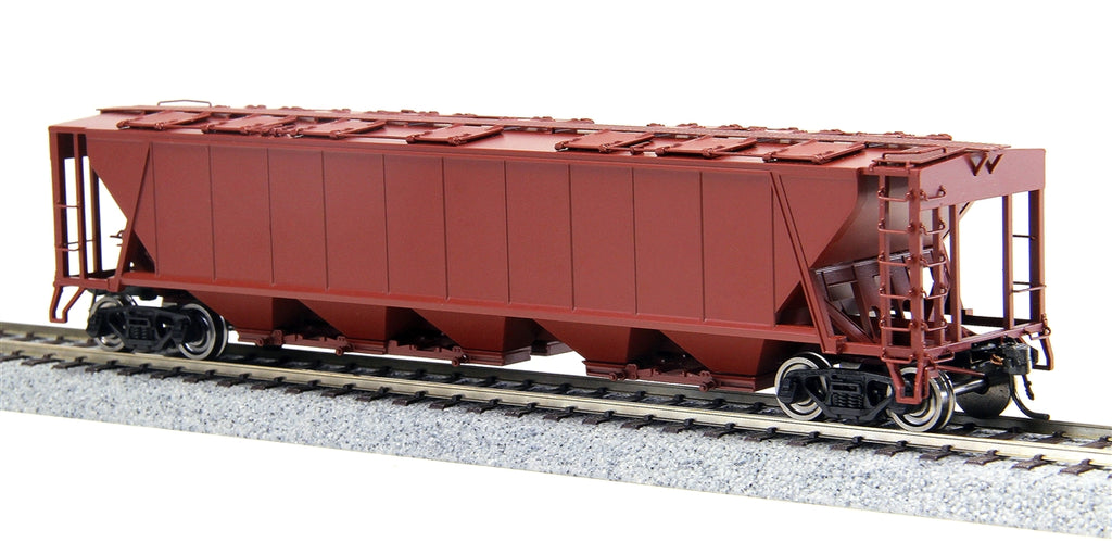 Broadway Limited 1890 HO Undecorated PRR Class H32 5-Bay Covered Hopper (4)